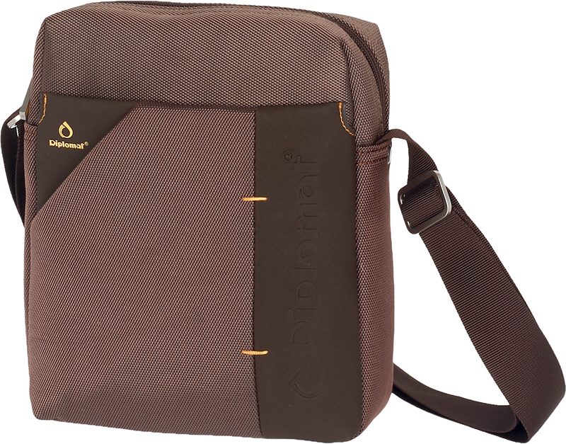 f1c81e9530 Shophere Ανδρικό τσαντάκι ταχυδρόμου Diplomat LE74 σε καφέ χρώμα έως 6  άτοκες δόσεις