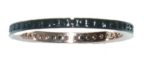 Shophere Ασημένιο δαχτυλίδι DS  RG003B  R ολόβερο σε rose χρώμα με μαύρα  ζιργκόν έως 6 89e8a781e77