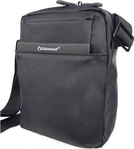 2fa4f8230f Shophere Ανδρικό τσαντάκι ταχυδρόμου Diplomat PC523 σε μαύρο χρώμα έως 6  άτοκες δόσεις